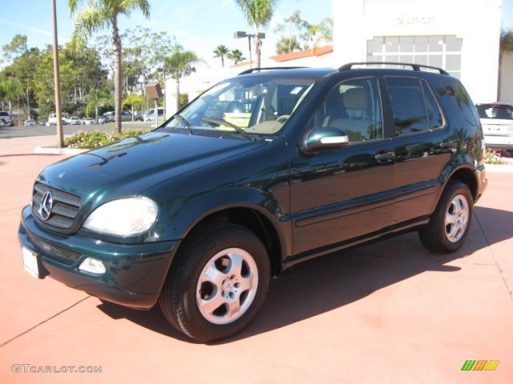 2003 everest green metallic mercedes benz ml 320 4matic for Mercedes benz green