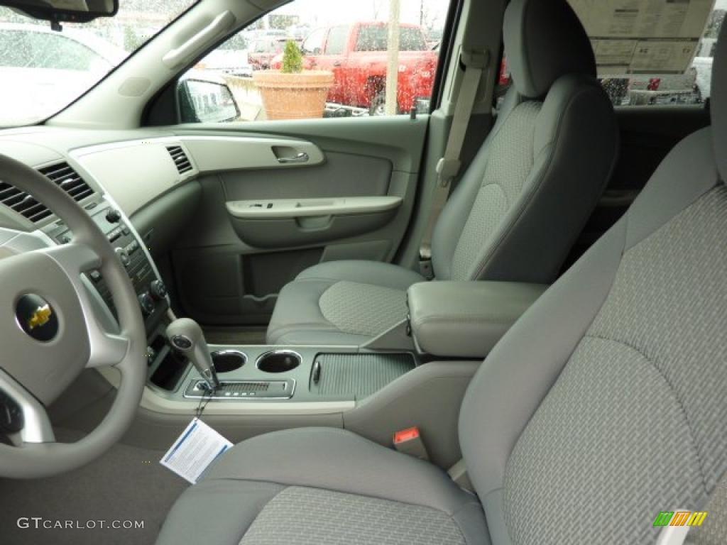 Dark Gray Light Gray Interior 2011 Chevrolet Traverse Ls Photo 39308221