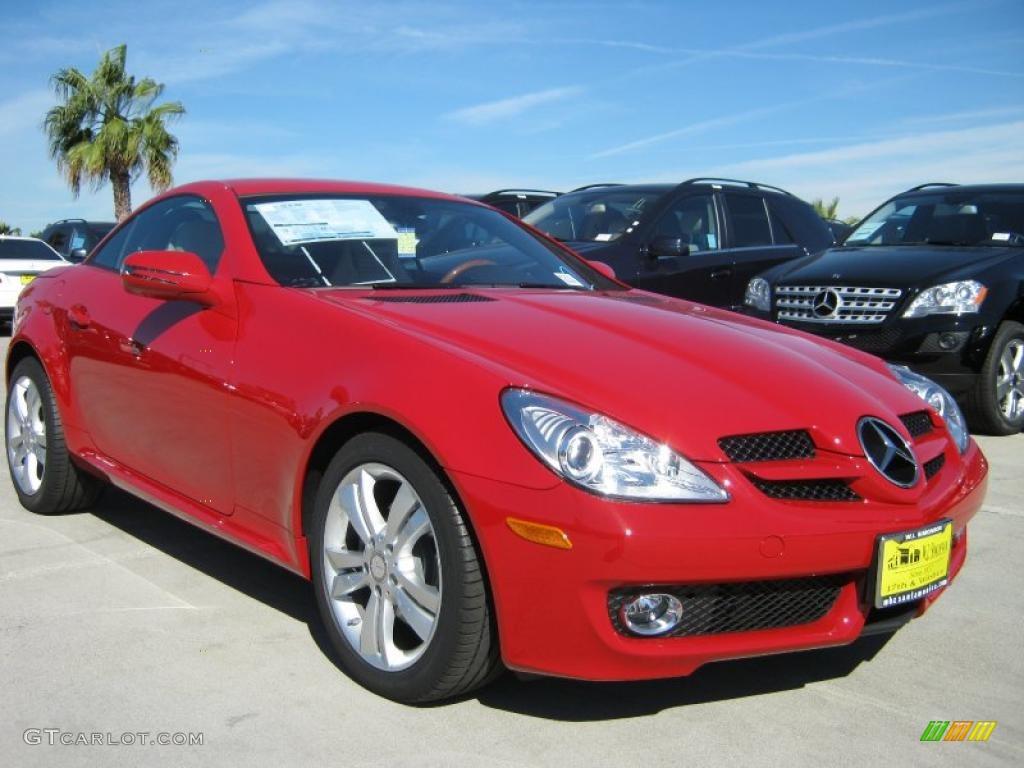 2010 mars red mercedes benz slk 300 roadster 39325717 for Mercedes benz slk 300