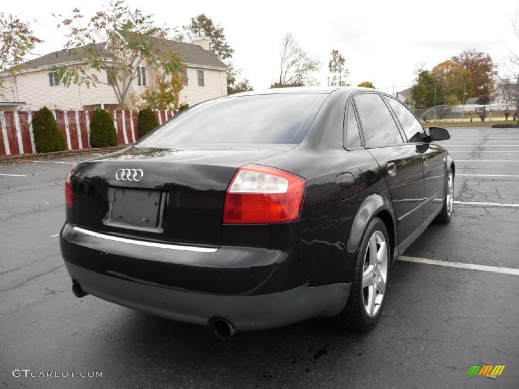 Brilliant black 2003 audi a4 1 8t quattro sedan exterior photo 39356976 gtcarlot com