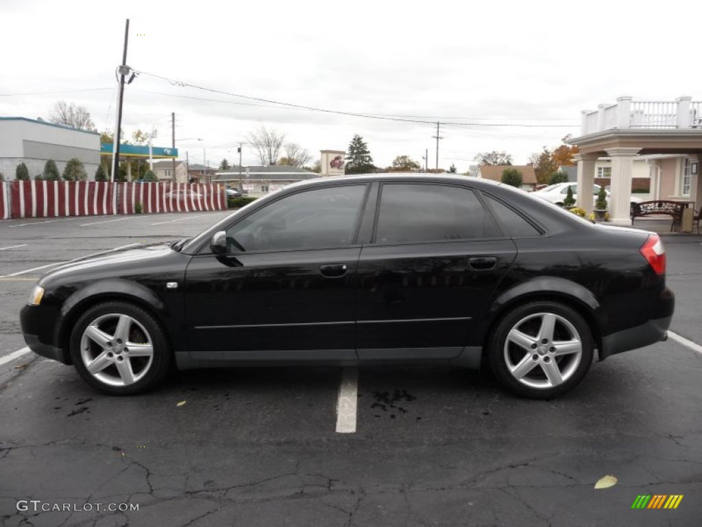 brilliant black 2003 audi a4 1.8t quattro sedan exterior photo