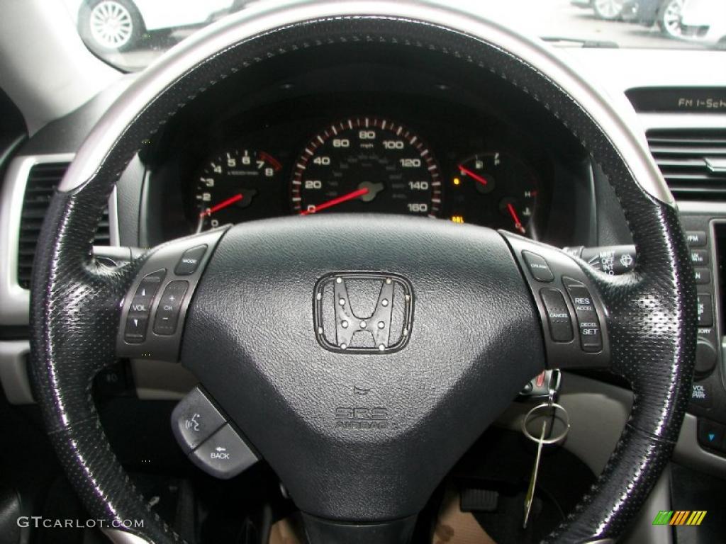 2007 Honda Accord Ex V6 Coupe Black Steering Wheel Photo