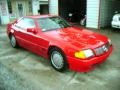 Signal Red 1990 Mercedes-Benz SL Class 500 SL Roadster