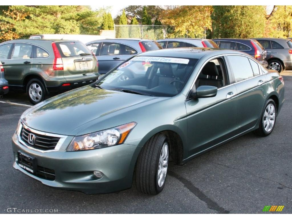 2008 mystic green metallic honda accord ex l v6 sedan. Black Bedroom Furniture Sets. Home Design Ideas