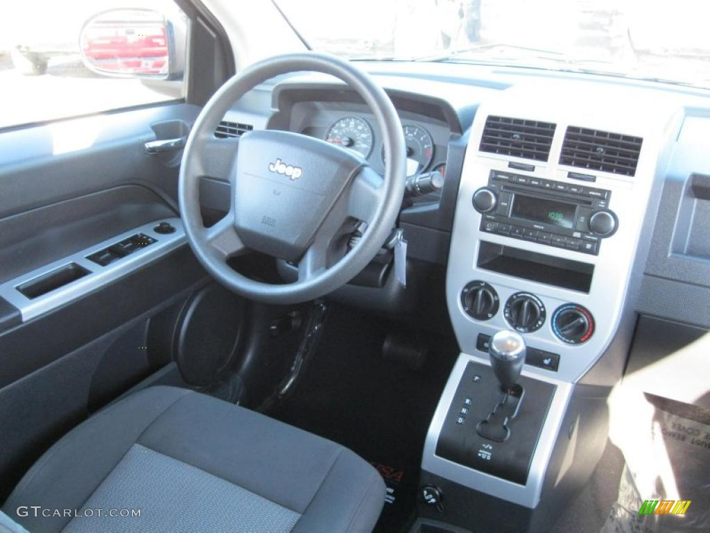 dark slate gray interior 2008 jeep compass sport 4x4 photo. Black Bedroom Furniture Sets. Home Design Ideas