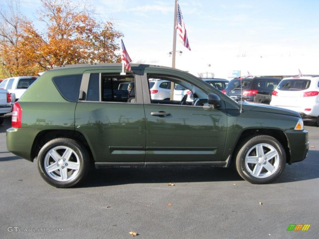 jeep green metallic 2008 jeep compass sport 4x4 exterior. Black Bedroom Furniture Sets. Home Design Ideas
