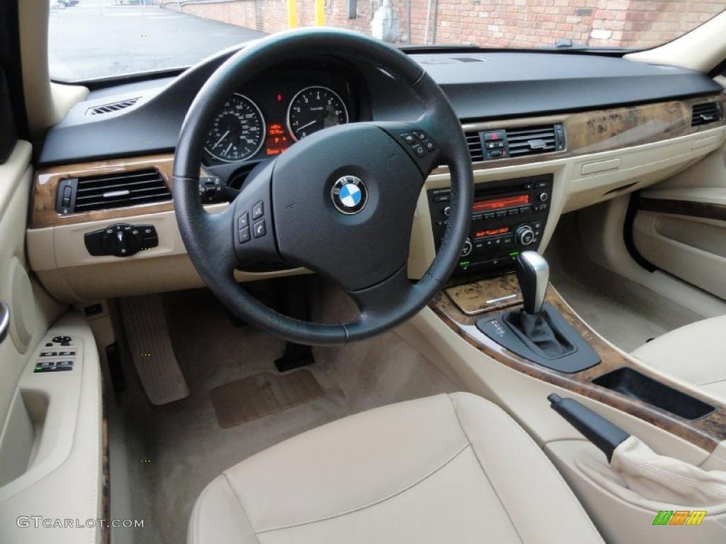 beige interior 2007 bmw 3 series 328xi sedan photo #39392137