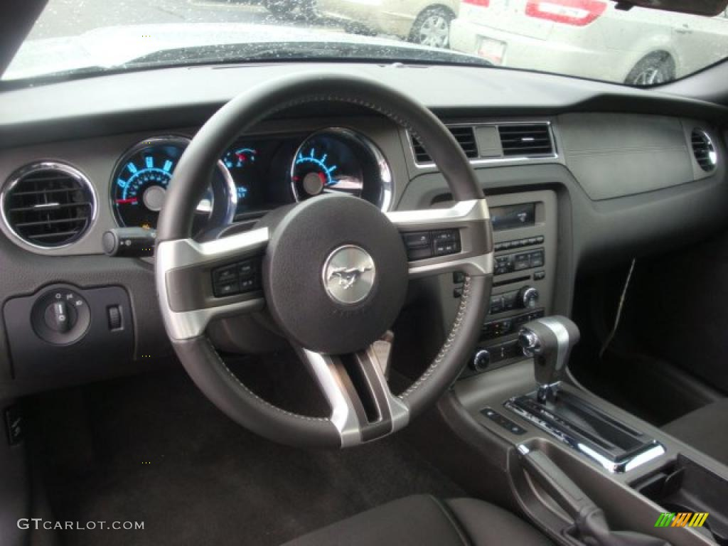 Charcoal black interior 2010 ford mustang v6 convertible photo 39397717 - Interior ford mustang ...