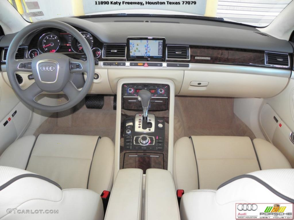 Cardamom Beige Interior 2010 Audi A8 L 4 2 Quattro Photo
