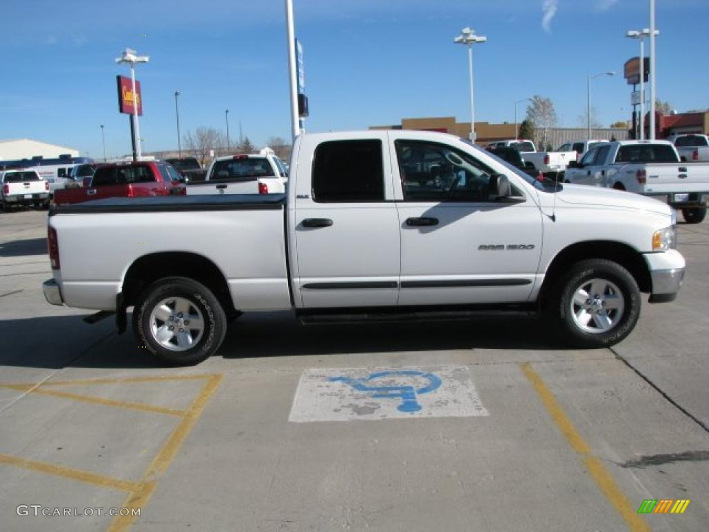 2002 Ram 1500 SLT Quad Cab 4x4 - Bright White / Dark Slate Gray photo #12
