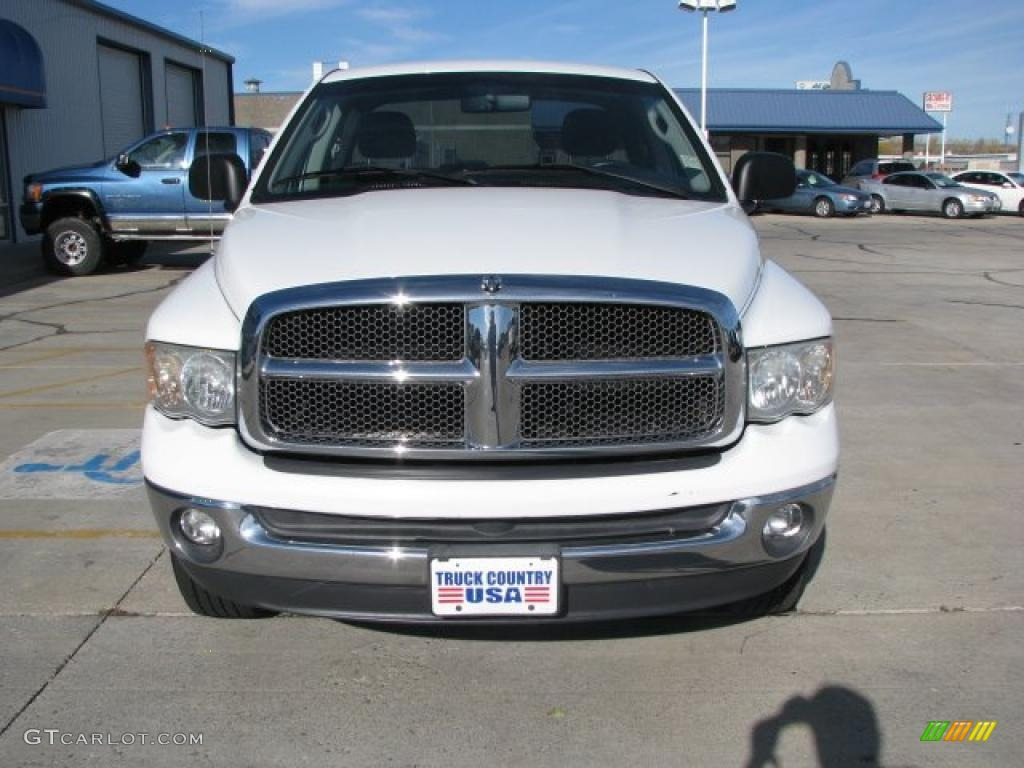2002 Ram 1500 SLT Quad Cab 4x4 - Bright White / Dark Slate Gray photo #14