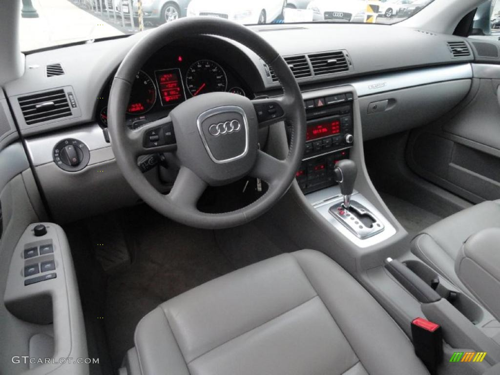 Light Gray Interior 2008 Audi A4 2 0t Quattro Sedan Photo