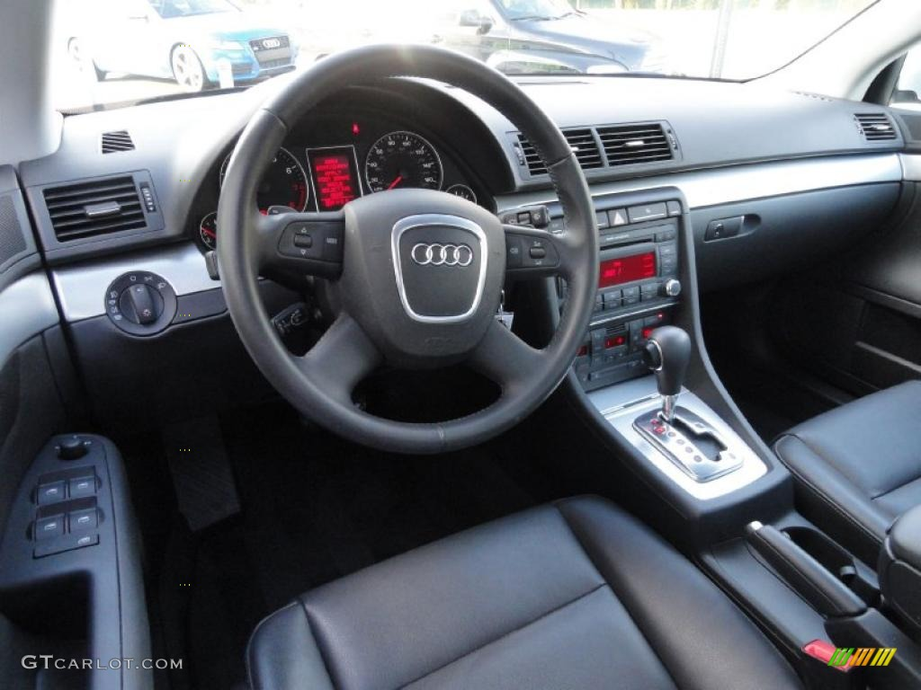 Black Interior 2008 Audi A4 2 0t Quattro Sedan Photo