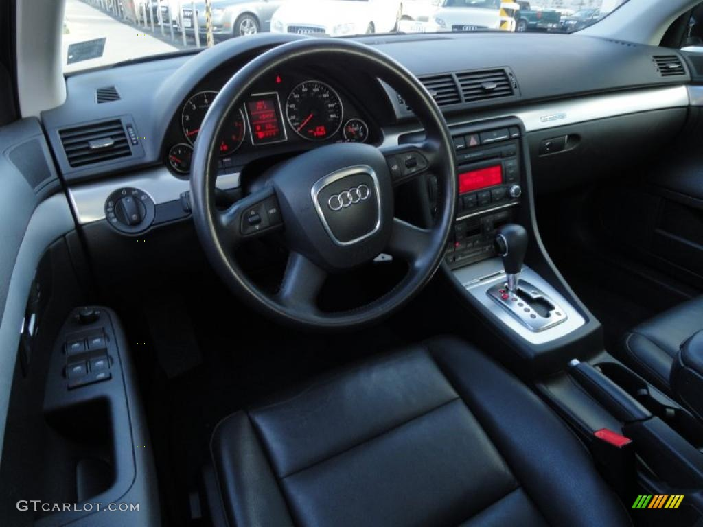 ebony interior 2007 audi a4 2.0t quattro sedan photo #39414345