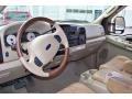 2006 Ford F250 Super Duty Castano Brown Leather Interior Prime Interior Photo