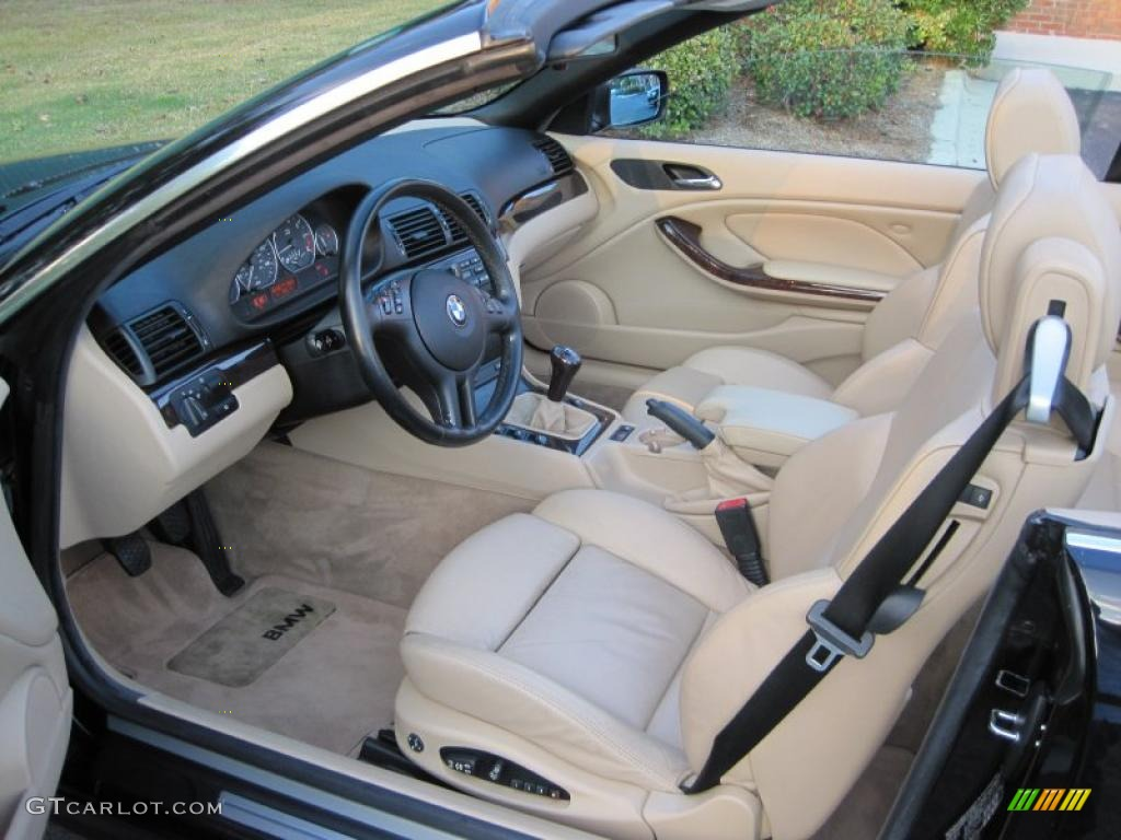 Sand Interior 2001 BMW 3 Series 330i Convertible Photo 39427050