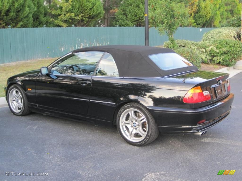 Jet black 2001 bmw 3 series 330i convertible exterior photo 39427262
