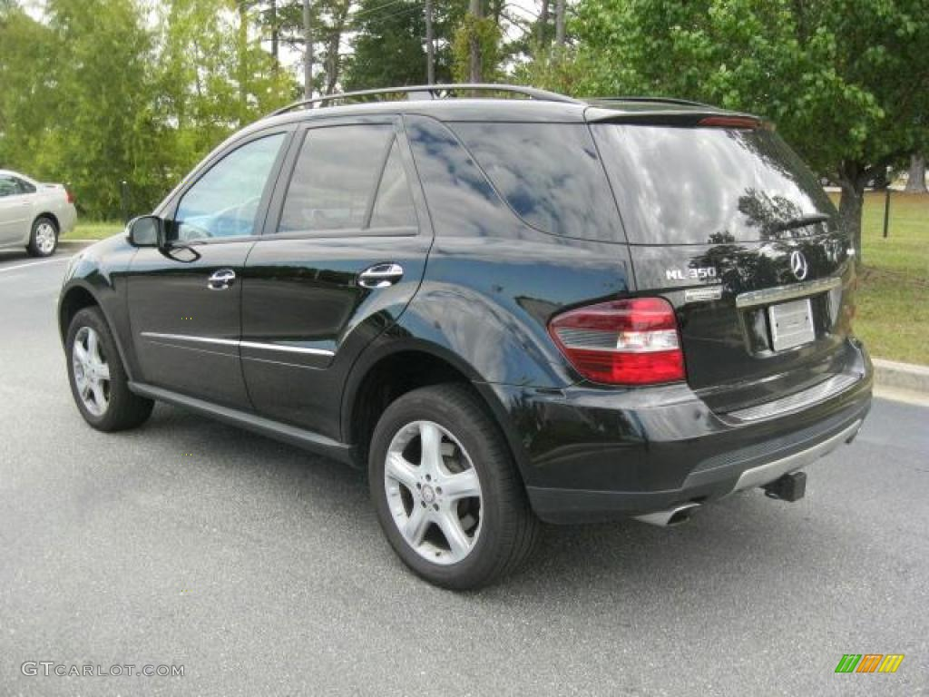 black 2008 mercedes benz ml 350 4matic exterior photo