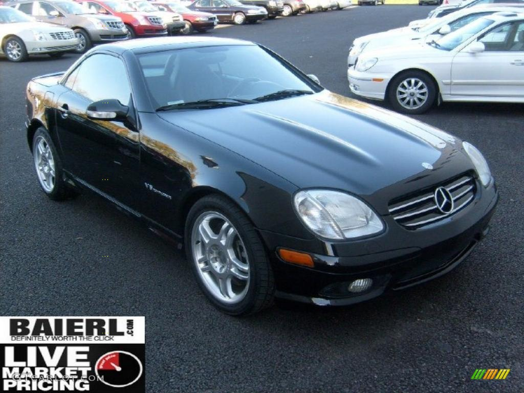 2003 black mercedes benz slk 32 amg roadster 39430679 car color galleries. Black Bedroom Furniture Sets. Home Design Ideas