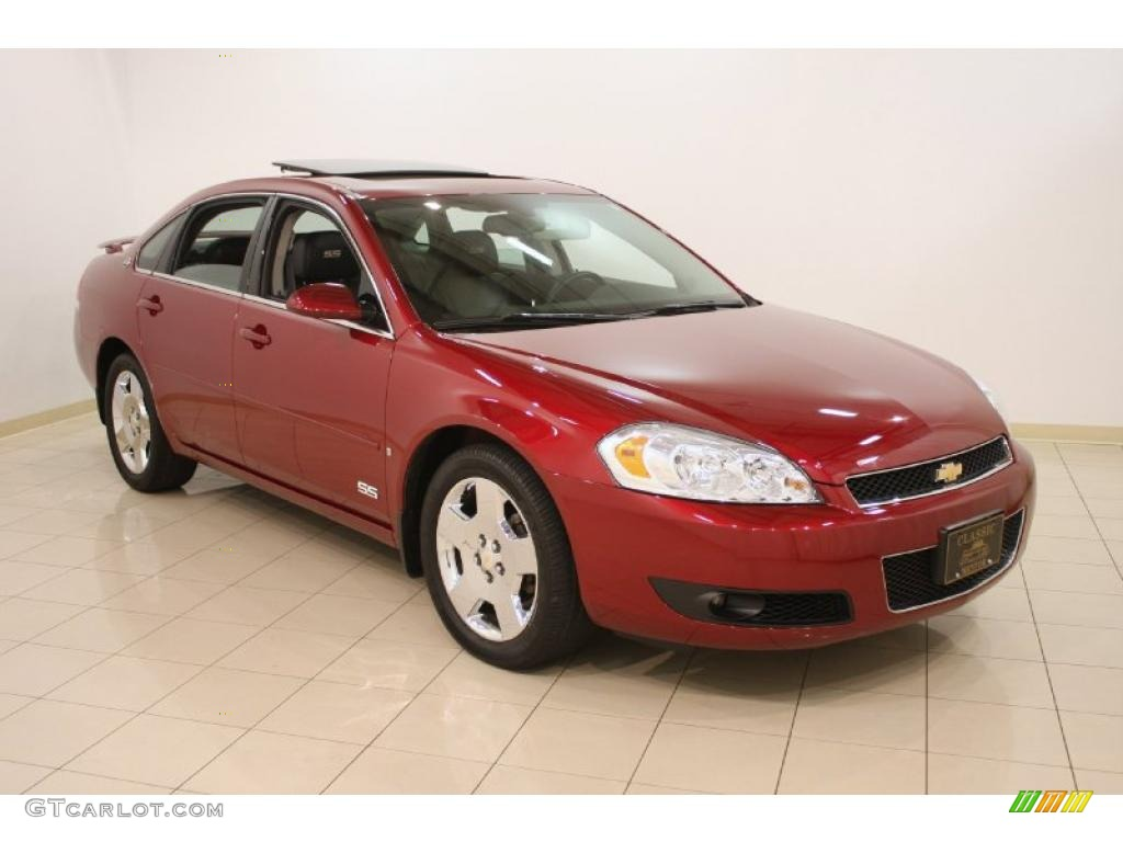 2008 Impala SS   Red Jewel Tintcoat / Ebony Black Photo #1