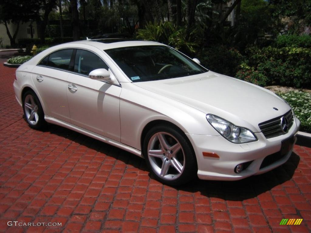 diamond white metallic 2008 mercedes benz cls 550 diamond white edition exterior photo 39446110. Black Bedroom Furniture Sets. Home Design Ideas