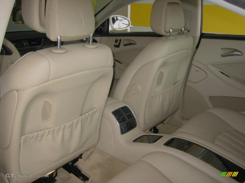 cashmere beige interior 2008 mercedes benz cls 550 diamond white edition photo 39446530. Black Bedroom Furniture Sets. Home Design Ideas