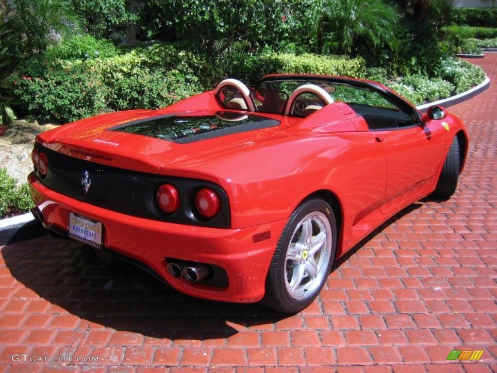 Red 2004 Ferrari 360 Spider F1 Exterior Photo 39458894