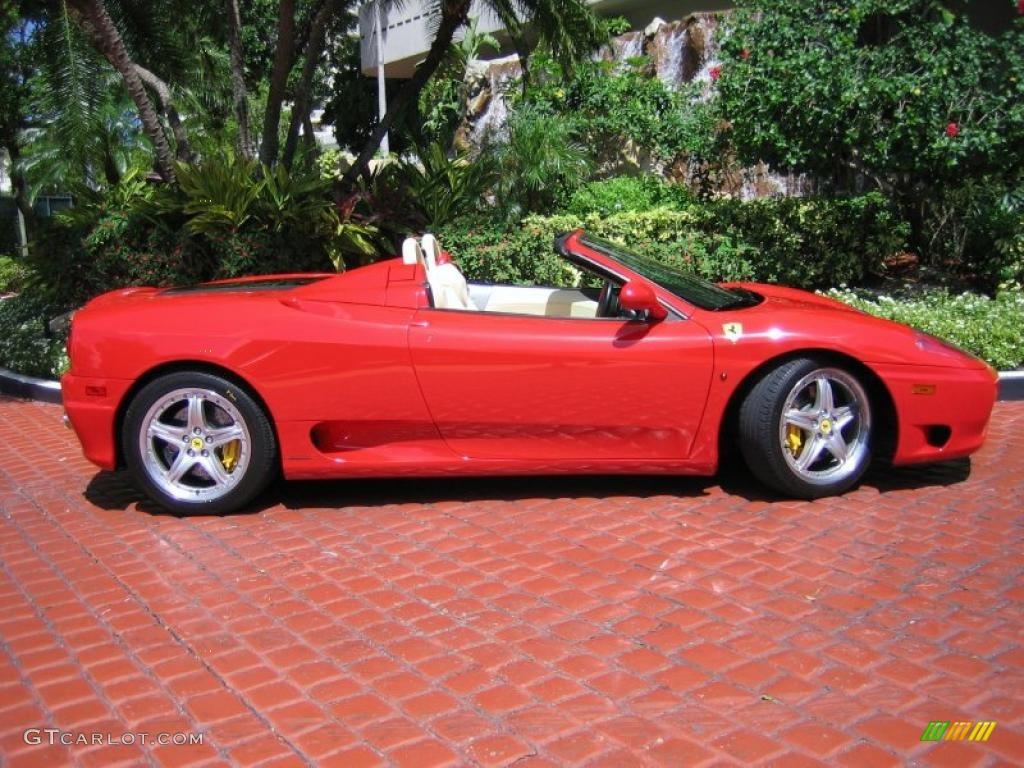 Red 2004 Ferrari 360 Spider F1 Exterior Photo 39458922