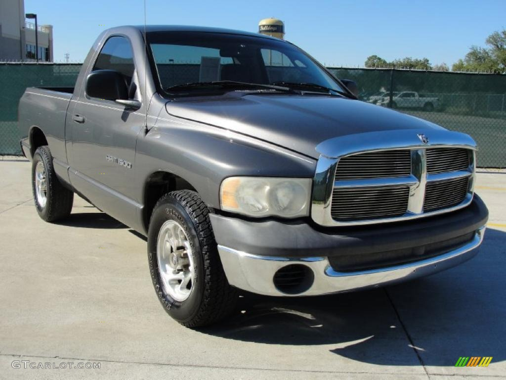 2002 Ram 1500 SLT Regular Cab - Graphite Metallic / Dark Slate Gray photo #1