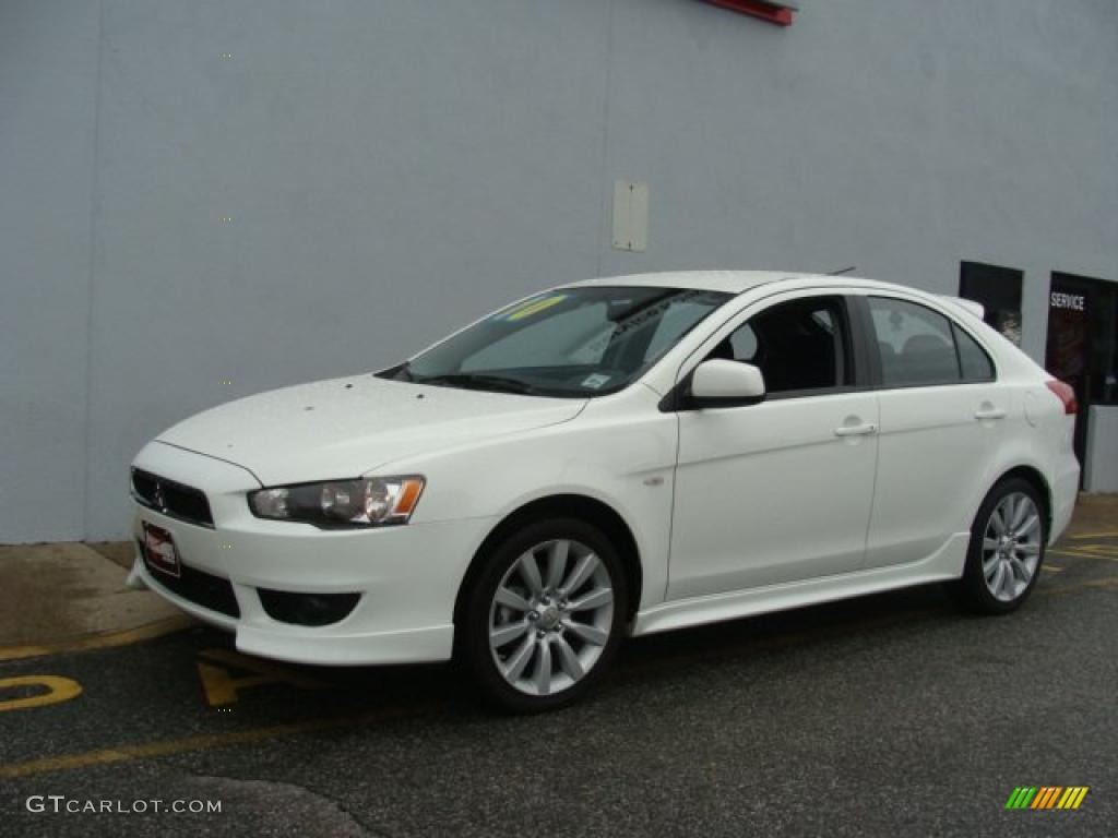 2010 wicked white metallic mitsubishi lancer sportback gts. Black Bedroom Furniture Sets. Home Design Ideas