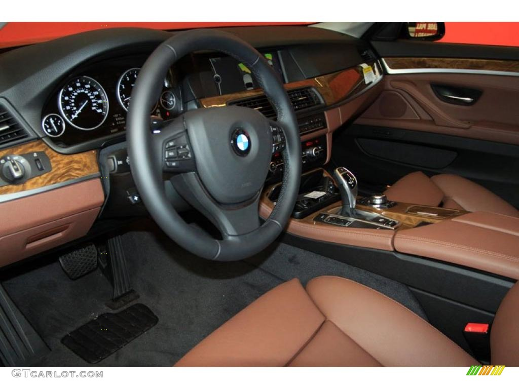 cinnamon brown interior 2011 bmw 5 series 528i sedan photo 39476122