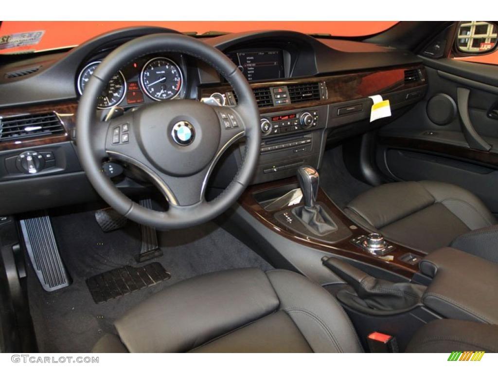 Black Interior 2011 Bmw 3 Series 335i Convertible Photo