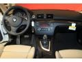 2011 BMW 1 Series Taupe Interior Dashboard Photo