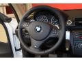 2011 BMW 1 Series Taupe Interior Steering Wheel Photo