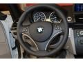 2011 BMW 1 Series Gray Interior Steering Wheel Photo