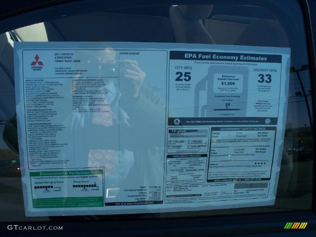 2011 Mitsubishi Lancer Es Window Sticker Photo 39495052 Gtcarlot Com