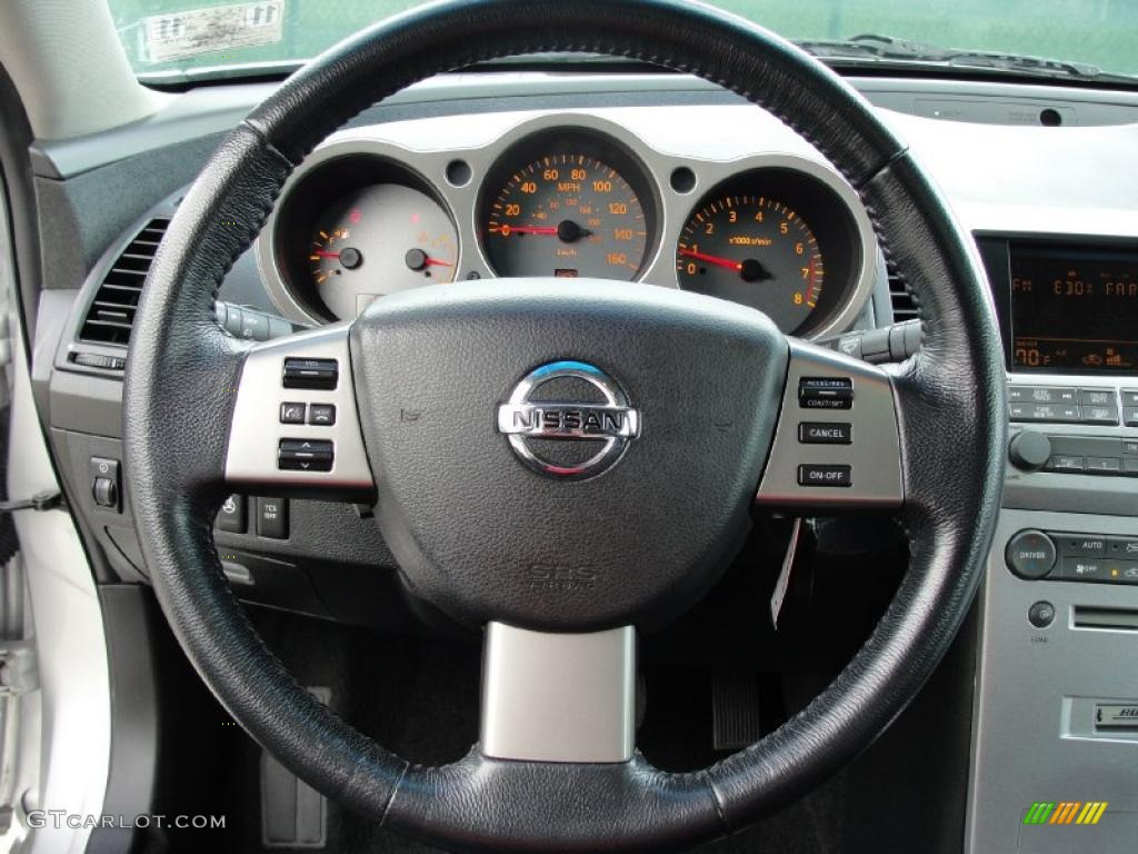 2006 Nissan Maxima 3 5 Sl Black Steering Wheel Photo 39516232