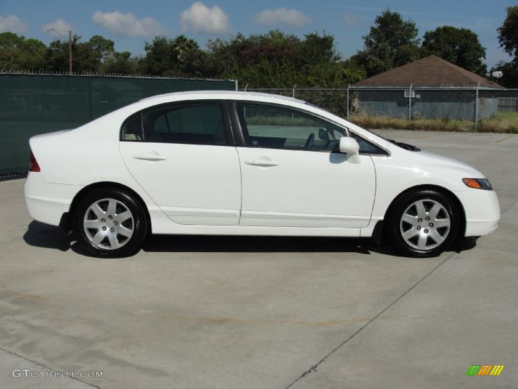 taffeta white 2007 honda civic lx sedan exterior photo 39517152. Black Bedroom Furniture Sets. Home Design Ideas