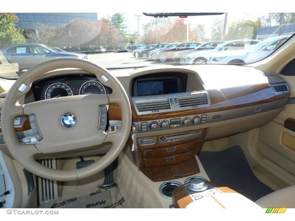 Beige Interior 2008 BMW 7 Series 750Li Sedan Photo 39526617