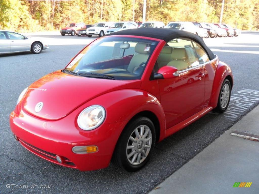 Volkswagen beetle convertible red