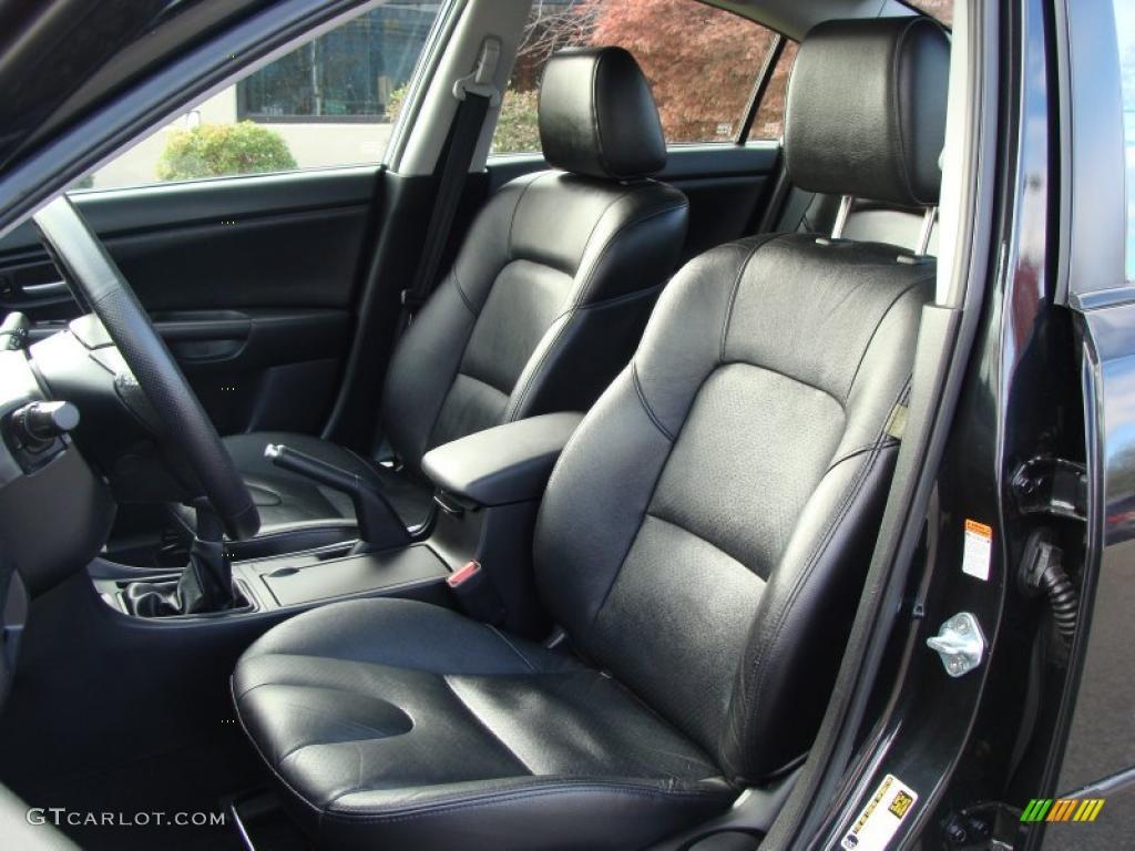 Black Interior 2007 Mazda Mazda3 S Grand Touring Sedan Photo 39546302