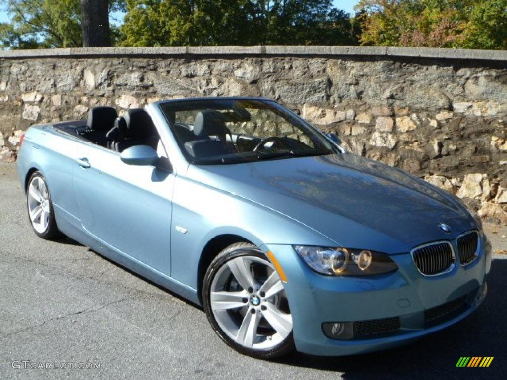 2007 Atlantic Blue Metallic BMW 3 Series 335i Convertible #39502660 ...