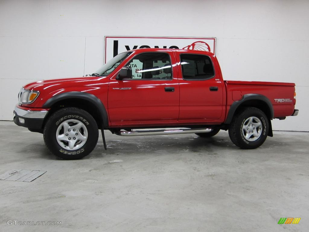 2004 Radiant Red Toyota Tacoma V6 Trd Double Cab 4x4