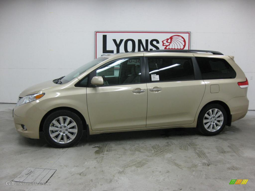 2011 Sienna Limited - Sandy Beach Metallic / Light Gray photo #1