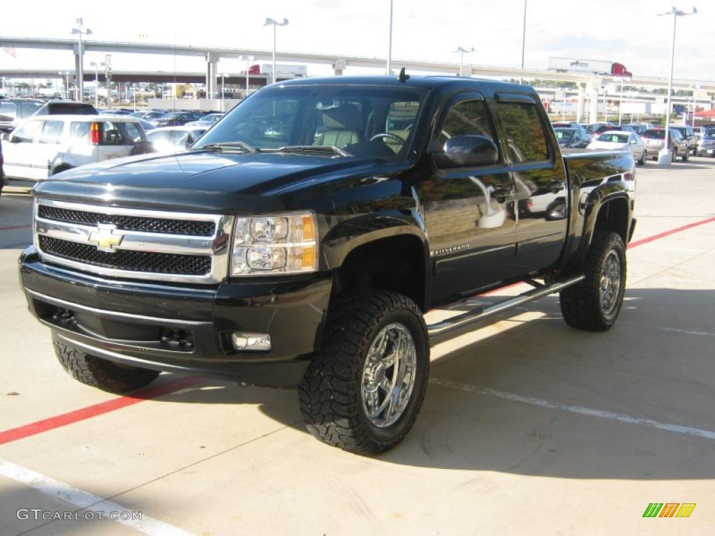 black 2007 chevrolet silverado 1500 ltz crew cab 4x4. Black Bedroom Furniture Sets. Home Design Ideas