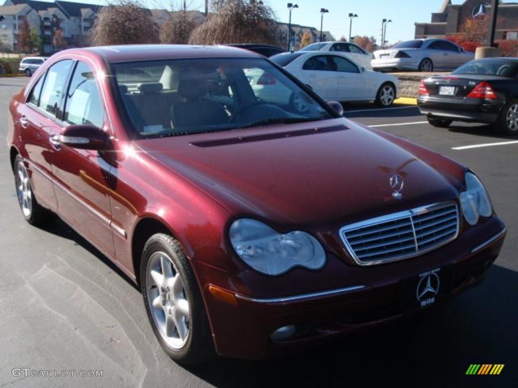Bordeaux red metallic 2003 mercedes benz c 240 sedan for Mercedes benz c 240