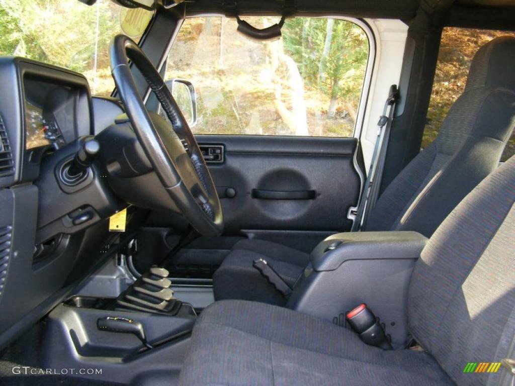 Dark Slate Gray Interior 2003 Jeep Wrangler Rubicon 4x4 Photo 39599213