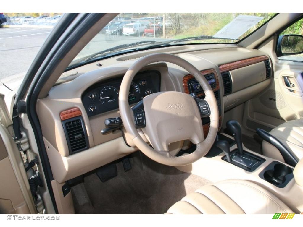 Camel Interior 1999 Jeep Grand Cherokee Limited 4x4 Photo #39603029