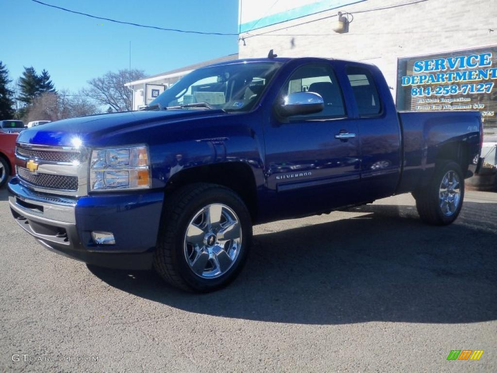 2011 Silverado 1500 LT Extended Cab 4x4 - Laser Blue Metallic / Ebony photo #1