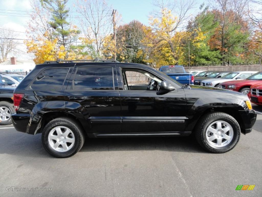 black 2008 jeep grand cherokee laredo 4x4 exterior photo #39633398